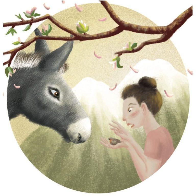 illustration pour poème japonais