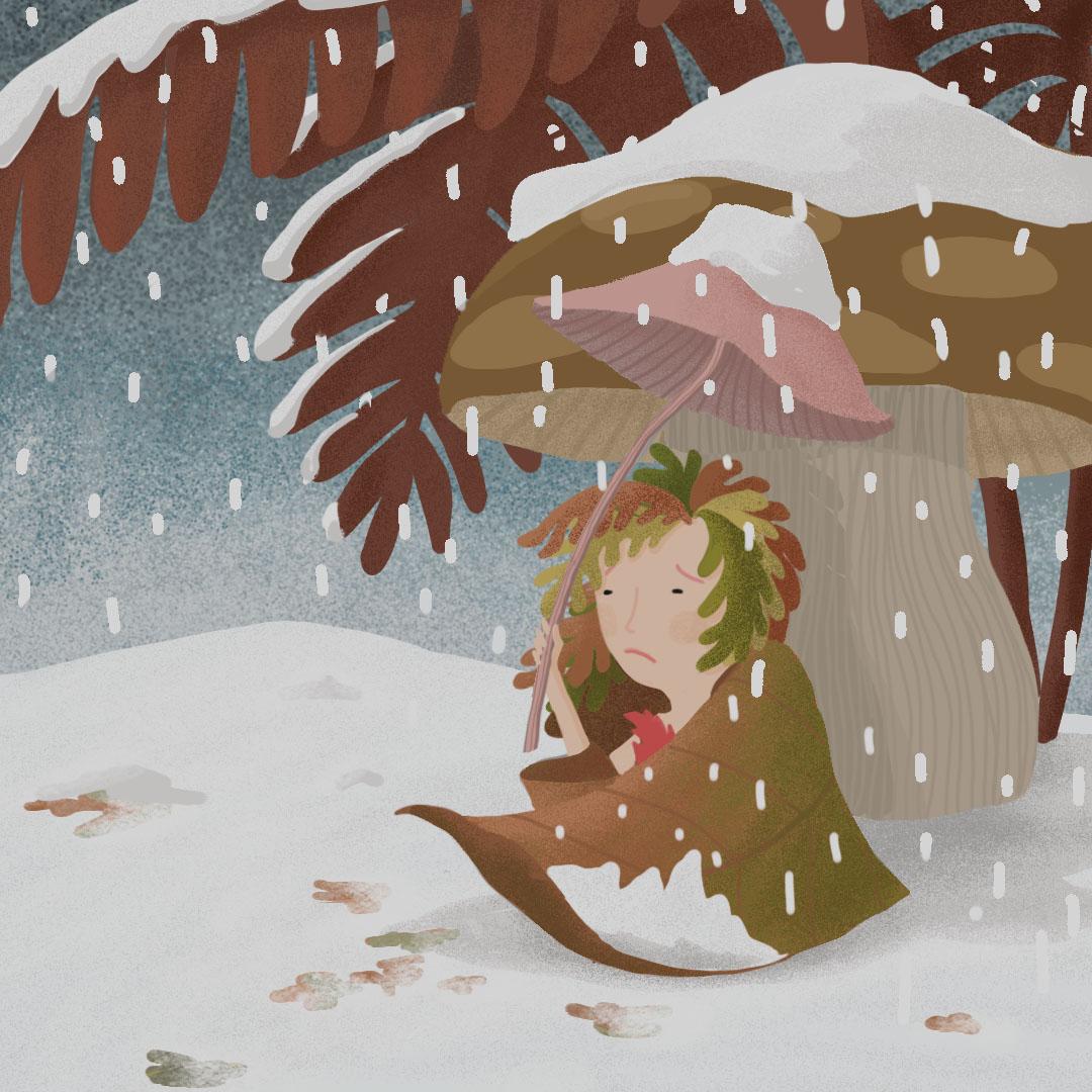 la petite Poucette sous la neige